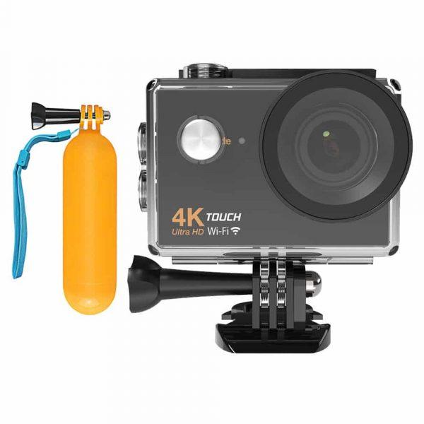 4K WiFi Touch screen akciona kamera sa kvalitetnim procesorom poslednje generacije Pega s350 i Sony IMX179 senzorom slike. U paketu dolaze svi neophodni moutnovi za kačenje kamere kao i poklon bova za vodu.