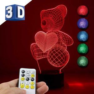 3D LED noćna dečija lampa Meda