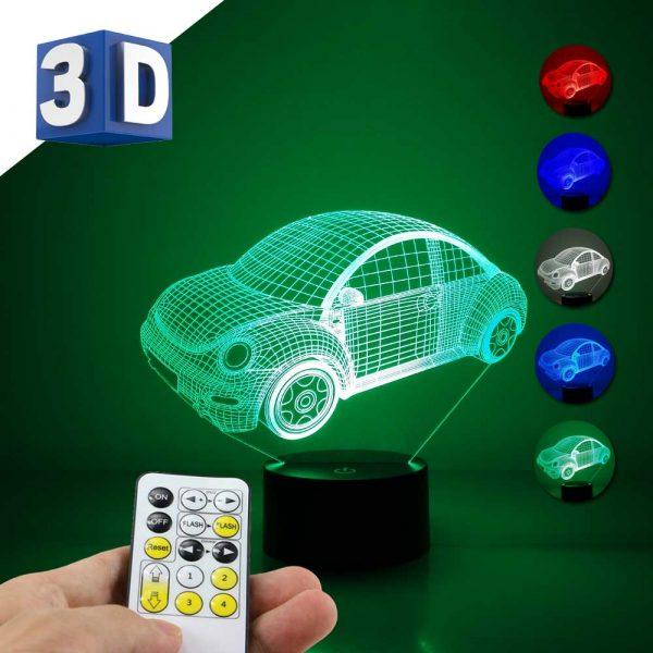3D LED dečija noćna lampa automobil buba