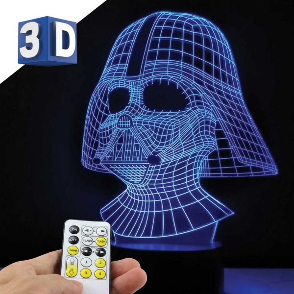 3D LED noćna dečija lampa Darth Vader Star Wars