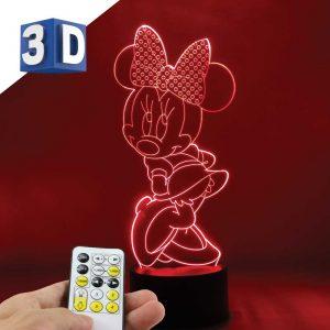 3D LED noćna dečija lampa Mini Maus