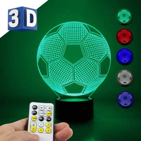 3D LED noćna dečija lampa Fudbalska lopta