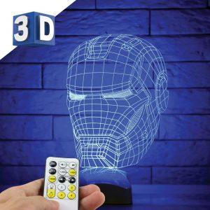 3D LED dečija noćna lampa Iron Man