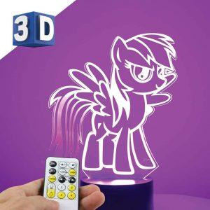 3D LED dečija noćna lampa My Little Pony