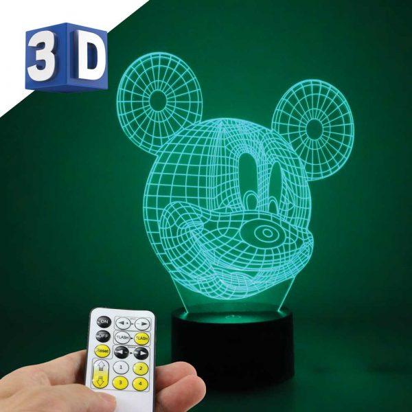 3D LED noćna dečija lampa Miki Maus
