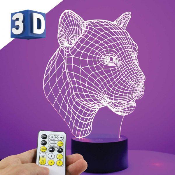 3D led lampa leopard noćna lampa