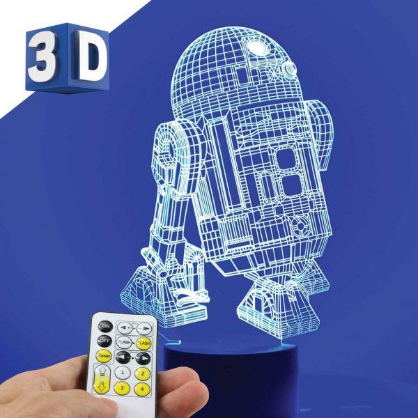 3D LED noćna dečija lampa R2D2
