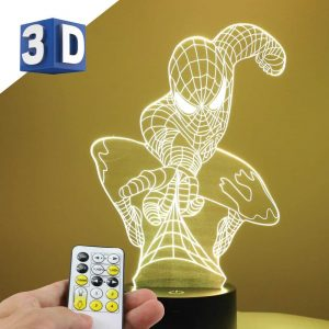 3D LEd noćna lampa za decu Spajdermen